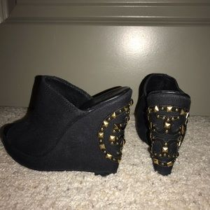 Tory Burch Studded Wedges